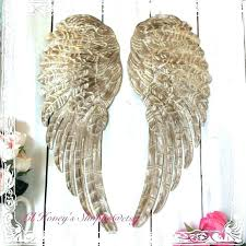 angel wings wall art silver wooden gold decor large metal distressed by ar