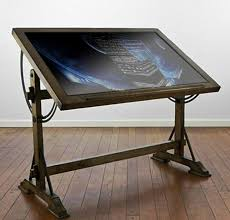 drafting table ikea glass