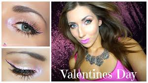 pink everything valentines day makeup tutorial pink eyes pink matte lips 2016 you