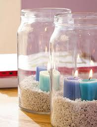 How To Decorate A Glass Jar 100 table decorating ideas with candles Light your home and garden 16
