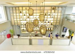 Bangkok, Thailand - August 8, 2015: Interior of a hotel restaurant at  Miracle