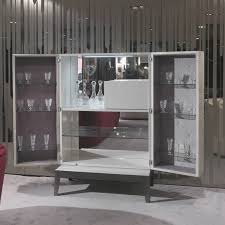 contemporary bar cabinet  walnut  ebony  metal  grandeur y