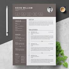 How Many Pages Is A Modern Resume Professional Resume Cv Template