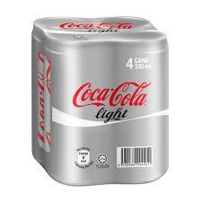 Buy Coke Light Online Coca Cola Coke Light 4 Cans 320ml