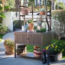 belham living modern metal outdoor potting bench with storage with outdoor potting bench outdoor potting bench