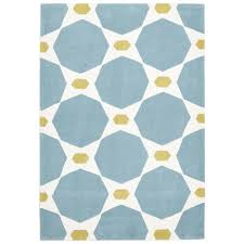network rugs hive blue yellow rug