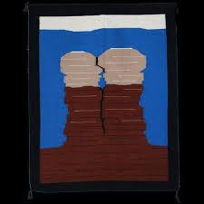 Navajo Pictorial Twin Rocks Rug - Eleanor Yazzie (#112)