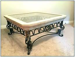 rod iron coffee table wrought iron coffee and end tables wrought iron coffee table with glass