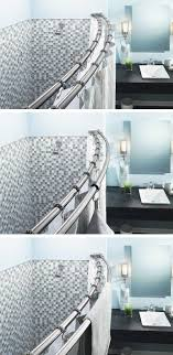 double shower curtain ideas. Bathroom Double Shower Curtain Rod Astonishing Moen In Stainless Steel Adjustable Curved Pics Ideas
