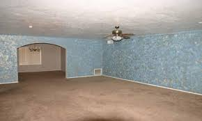 ugly faux sponge paint walls living room phoenix home house real estate photo