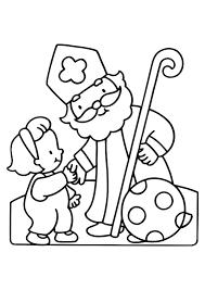Kleurplaat Sinterklaas En Zwarte Piet 2825