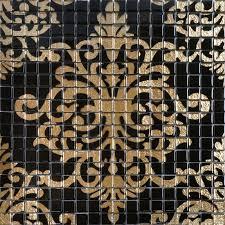 mosaic tile designs. Wonderful Designs Glass Mosaic Tile Murals Black And Gold Crystal Backsplash TMF007 Plated  Puzzle Wall Tiles Bathrooms In Mosaic Tile Designs N