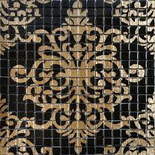 glass mosaic tile murals black and gold crystal backsplash tmf007 plated mosaic puzzle wall tiles bathrooms