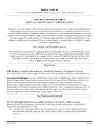 Professional Software Engineer Resume Samples Sample For Civil