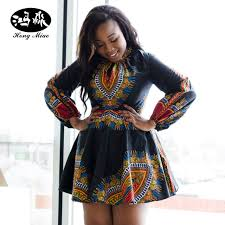 African Pattern Dress Enchanting HongMiao 48 Summer Plus Size African Print Dresses For Women