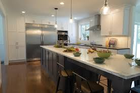 white and navy toned kitchen design dunstable ma