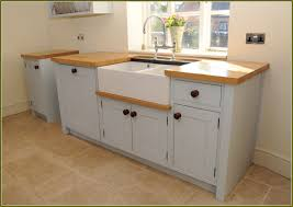 Freestanding Kitchen Pantry Cabinet Kitchen Sleek Kitchen With Apron Sink On Free Standing Cabinet