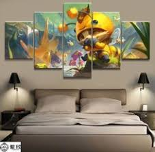 <b>5 Pieces Cartoon</b> Castle Beauty And The Beast Painting Canvas in ...
