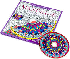 Mandalas Adult Coloring Book With Relaxation Cd Color With Music Coloring Book Cd L