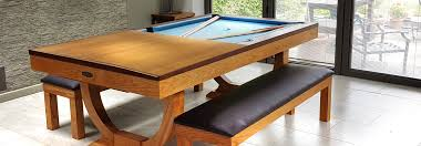 pool table and dining room table