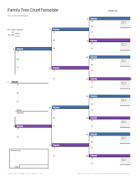 Family Tree Chart Templates | 7+ Free Word, Excel & Pdf Formats