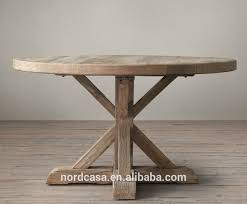 antique reclaimed wood folding rustic round dining table