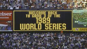 Image result for The quake came moments before game three of baseball's World Series between the San Francisco Giants and Oakland Athletics, held at Candlestick Park in San Francisco.