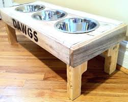 dog bowl holder reclaimed rustic pallet furniture dog bowl stand pet feeding bathrooms free wooden dog