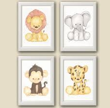 baby safari nursery art nursery decor set of 4 by sweetartpaperie on baby safari nursery wall art with baby safari nursery art nursery decor set of 4 by sweetartpaperie