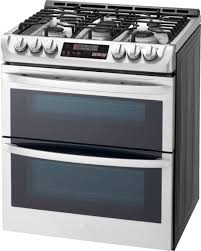 lg 6 9 cu ft self cleaning slide in double oven gas smart wi fi range with probake convection stainless steel ltg4715st best