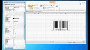 Excel 2010 Design Mode How To Create A Barcode In Excel 2010 With Vba