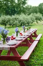 Attractive Table De Picnic Bois 12 Idee Decoration De Table