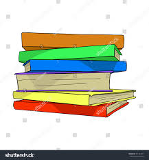 pile of books on white background hand drawn stack of many colorful books flat