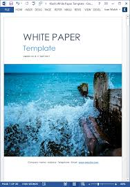 White Paper Format 15 X White Paper Templates Ms Word Templates Forms Checklists
