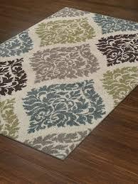 moderntransitional rug soft damask carpet 5 7 5 8 ivory