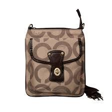 Coach Turnlock Signature Small Camel Crossbody Bags EPK