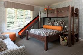 cool bunk beds with slides. Marvelous Bunk Beds With Slide In Kids Transitional Wood Bed Next To Twin Over Queen Alongside And Design Cool Slides