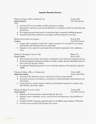 College Student Sample Resume Templates College Application Resume