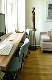 double desks for home office. Home Office Double Desk Two Sided Workstation Small Space . Desks For