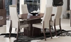 esf prestige high gloss wenge dining table set 5pcs contemporary made in italy