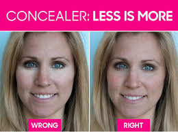yourself look older with makeup go easy on the concealer for a natural look