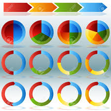 An Image Of A Various Pie Chart Wheel Infographic Set With Transparent