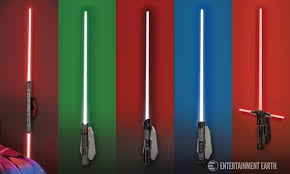 lightsaber lights are a more elegant light fixture for a more civilized age