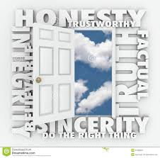 honesty truth integrity reputation d word door stock illustration  honesty truth integrity reputation 3d word door