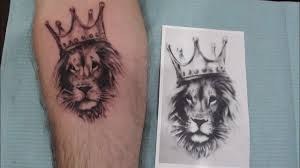 тату лев Tattoo Lion In The Caron