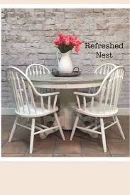 dining room table farmhouse decor farmhouse gray and white table and 4 chairs 48 round 46x60 leaf