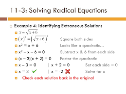 12 11 3 solving radical equations