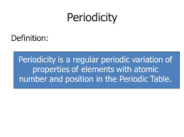 AS Chemistry Unit 1 Module 3 –The Periodic Table - ppt download