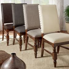 upholstered parsons chairs.  Parsons Flatiron Nailhead Upholstered Dining Chairs Set Of 2 By INSPIRE Q Classic In Parsons L