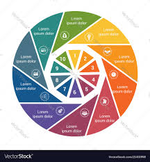 Pie Chart Pdf Download Infographic Business Pie Chart For 10 Options